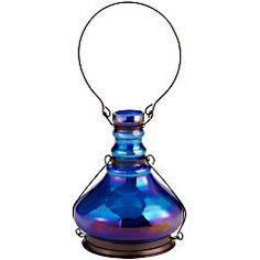 Luster Glass Lantern - Blue