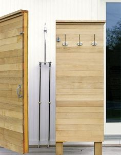Hardscaping 101: Outdoor Showers  - well researched and thorough information -great information!  - Gardenista