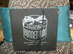 Vintage Black and Silver Bonnett Box Hat Box by pinkcrazy6 on Etsy, $7.00
