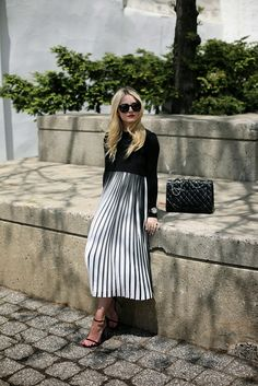 boxy top 2017 with striped maxi skirt 2017