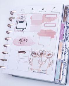 Mini Happy Planner, Cute Planner, Planner Layout, Planner Ideas, Budget Planner, Weekly Planner Template, Schedule Templates, Discbound Planner, Study Planner