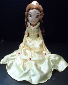 """$12.95/ #Disney Store #Princess #Belle Large #Plush Fabric from #BeautyAndTheBeast Soft #Doll measures  21"""" www.stores.ebay.com/Shellys-Sweet-Finds"""