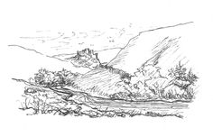 Over the hills from Edin to Palatine; Dylan, Dougall and Kevin journey south day 24 Over The Hill, Inktober, Journey, Map, World, Over The Hump, Location Map, The Journey, Maps