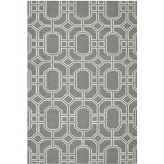 Kennedy Handmade Wool Rug in Grey & Light Blue
