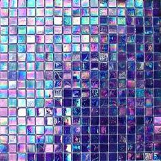Bathroom - purple Iridescent Glass Mosaic Tiles love these! Iridescent Tile, Glass Mosaic Tiles, Cement Tiles, Wall Tiles, All Things Purple, Shades Of Purple, Pink Purple, My Favorite Color, Decoration