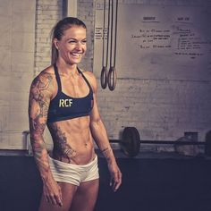 CrossFit competitor Christmas Abbot recommends dividing our plates into thirds and filling each section with a primo protein, carbohydrate, and fat.