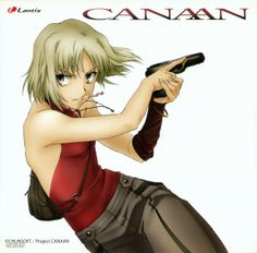 Canaan by Type-Moon; photo from Lilac Anime Reviews.