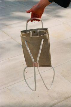 SALE: Pocket Bag Medium Raw Natural