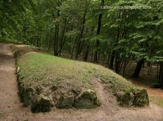 Wietrzychowice, Poland. The megalithic tomb of 4 millennium BC