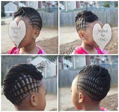 Interlaced (criss cross) mohawk design ~TnC~ #kidsnaturalhair #naturalhairkids #braids #naturalkids #littlegirlhairstyles #kidsbraids #kidhairstyles #naturalhair #teamnatural #littlenaturals #braidart