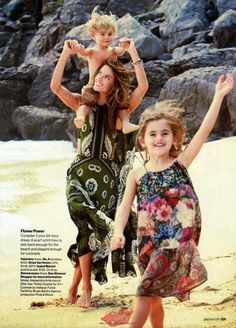"""""""Wild Things"""" Alessandra Ambrosio and her kids by Patrick Demarchelier for Glamour US April 2015"""