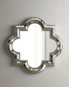 Gorgeous Quatrefoil Mirror - I'll buy a cheaper version with a silver frame and add mirror pieces to the frame myself to save big! | For Dining Room or Above Mantle