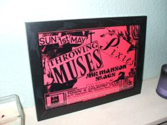 Pixies Throwing Muses Framed Gig Poster Print by indieprints, $20.00
