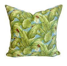 Tropical Boho Palm Tree Leaves Pillow Cover - - Cotton Cushion Cover - 45 x 45 cm Cotton, Decor, Pillow Covers, Cushion Cover, Pillows, Palm Tree Leaves, Throw Pillows, Leaves Pillow, Boho