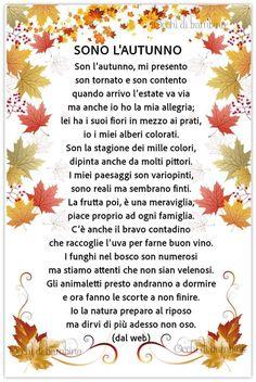 Poesia Sullautunno Da Stampare Italiano Autumn Leaf Color