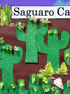 Saguaro Cactus craft for kids. (great for Cinco de Mayo, AZ landscape, desert)