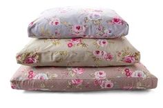 Floral Boxed Cushion Dog Bed