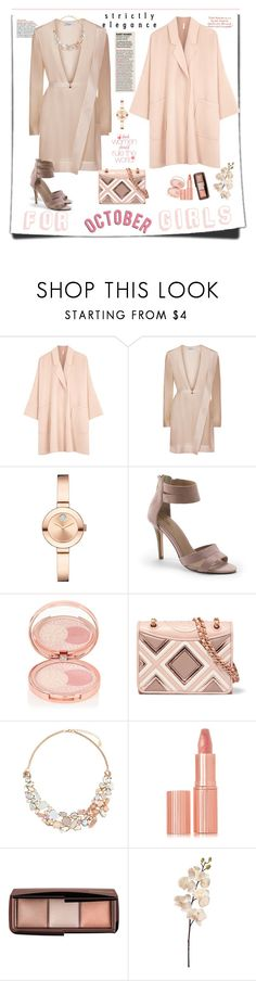 """For October Ladies"" by ellie366 ❤ liked on Polyvore featuring Helmut Lang, Movado, Lands' End, By Terry, Tory Burch, Accessorize, Charlotte Tilbury, Hourglass Cosmetics and Alba Botanica"