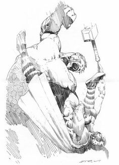 Hulk vs. Thor - Esad Ribic