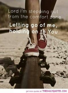Stepping out of comfort zone