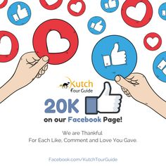 We are really thankful for each Like, Comment and Love you Gave!! Keep Sharing www.kutchtourguide.com with your Friends.