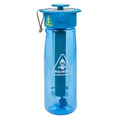 Lunatec Aquabot sport water bottle a pressurized mister camp shower and hydration in one Portable running water for your pocket BPA free Blue -- Check out this great product. (This is an affiliate link)
