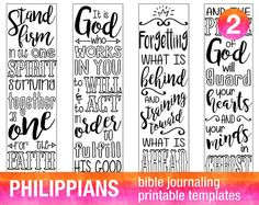 4 Bible Journaling Printable Illustrated Faith Template Stencils Verse Coloring Set 1 JOHN