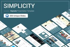 Simplicity Keynote Presentation Template is a Flexible, clean, simple, and unique Keynote Template. All elements easy to edit and you can easily change the color to match it with your personal or company brand, Save your time with 7 Premade...