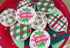Dress up Santa's cookies with chocolate and cute transfer patterns! http://americanchocolatedesigns.com/transfer_sheets.php