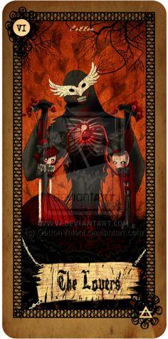 Tarot card - The Lovers by CottonValent.deviantart.com on @deviantART