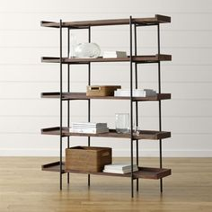 Shop Crate and Barrel for stylish, quality bookcases to display your books…