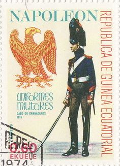 Stamp: Corporal of the Grenadiers (Equatorial Guinea) (Napoleonic Military Uniforms) Mi:GQ 1192,Sn:GQ 77-109,Yt:GQ 110M