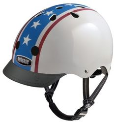Nutcase Americana Street Helmet  The Nutcase Americana street helmets have an inspired BMX design with outer ABS shell and EPS inner foam lining that meets both the ASTM-F1492 and CPSC safety standards. Therefore, your child can enjoy both riding with their bike and skateboarding at the same time. http://www.bestbicyclehelmet.com/5-best-street-bike-helmets-money-style/