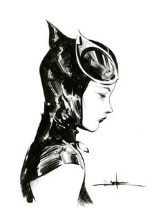 Catwoman - Jae Lee, in Michael Huang's Commissions - Assorted Comic Art Gallery Room - 1231928 Catwoman Cosplay, Batman Und Catwoman, Batgirl, Comic Book Artists, Comic Artist, Comic Books Art, Bob Kane, Gotham City, Jae Lee