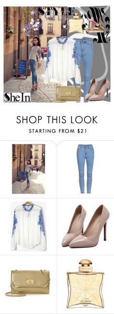 """Sheinside.com 7"" by zijadaahmetovic ❤ liked on Polyvore featuring mode, Lauren Ralph Lauren en Hermès"