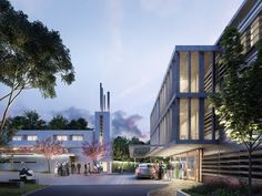Architectural rendering for the Aged Care Village St Hedwig en Sydney, Australia designed by Rudolfsson Alliker associates architects. New Saints, Aged Care, Hedwig, Marina Bay Sands, Spain, Mansions, Architecture, House Styles, Building