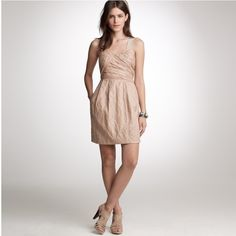 J. Crew Vivette Dress, Brand New With Tags Beautiful blush pink dress, sold old online. Never worn. Perfect for holiday parties!**leaving town 12/16-12/27. Shipping will resume 12/28! Happy holidays** J. Crew Dresses