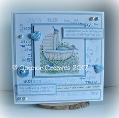 I have a sweet baby card to share I've used a topper from LOTV babcking paper made by me sentiments computer generated pearls a...