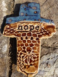 HOPE Cross by RTC Pottery  #crosses #hope #potterycrosses SOLD