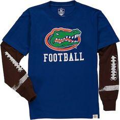 3da99c8e3ecf Florida Gators Wes   Willy Youth Football Fooler Long Sleeve T-Shirt -  Royal Florida