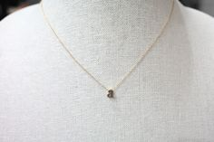 Lowercase initial necklace, dainty jewelry