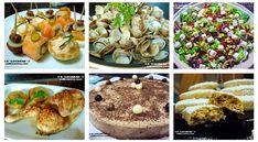 aperitivos, almejas, ensalada, pollo horno, tarta, hojaldrinas. Menú Navidad 2