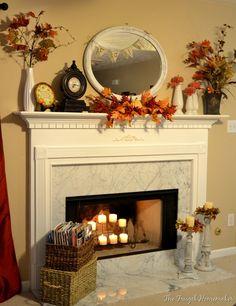 fall decor I want a  fireplace