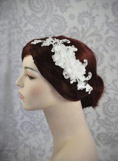 Bridal Hair Accessories Silk Flower and by januaryrosebridal, $68.00