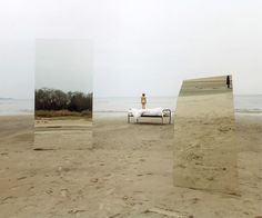 For her project titled Mirrors, Swedish photographer Ilar Gunilla Persson photographed various landscapes with giant mirrors placed in them.