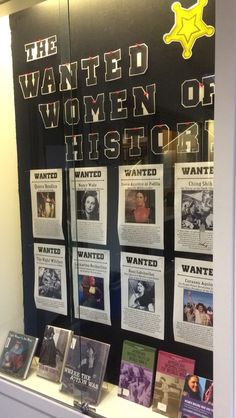 The Wanted Women of History library display for Women's History Month