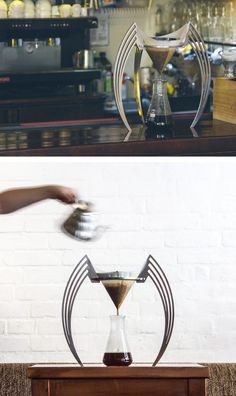 Polish industrial designer and passionate home barista, Bartosz Garlinski, has created IIKONE, a pourover coffee brewer.