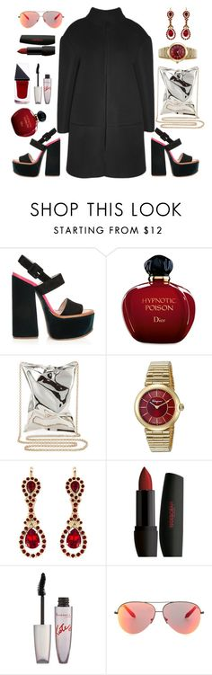 """""""Daniel Cerdan coat"""" by thestyleartisan ❤ liked on Polyvore featuring Victoria Beckham, Christian Dior, Anya Hindmarch, Salvatore Ferragamo, Givenchy, Rimmel and GUiSHEM"""