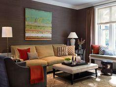 Warm tones - Living Room -  Rachel Reider Interior Designs