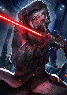 Darth Link by omegarer on DeviantArt Star Wars Sith, Star Wars Rpg, Star Wars Fan Art, Rey Cosplay, Star Wars Characters Pictures, Star Wars Images, Cyberpunk, Female Sith, Star Wars Girls